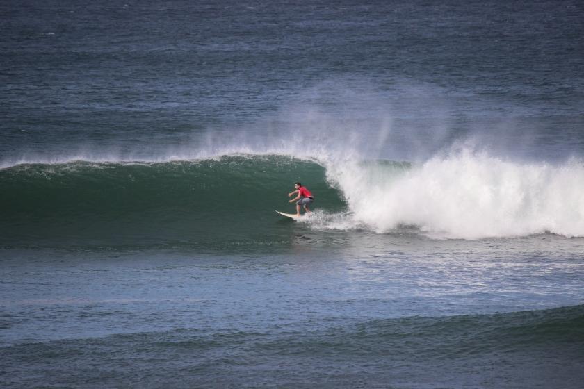Justin surfing Popoyo