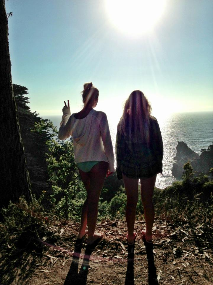 With Siobhan near Big Sur last summer