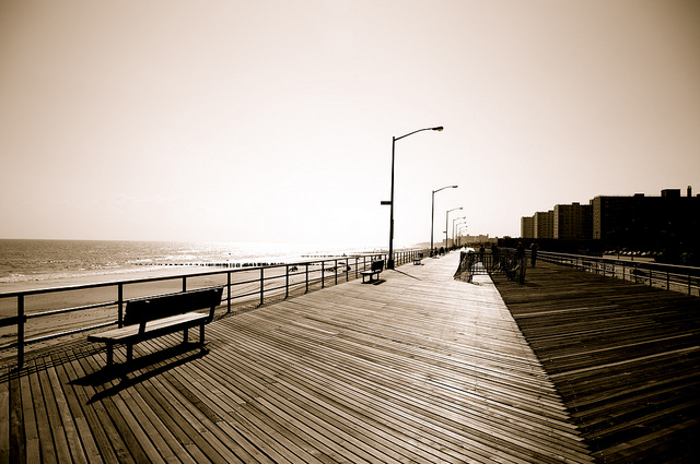 Rockaway Beach, NY boardwalk (pre-Hurricane Sandy)