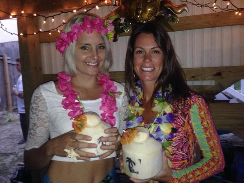 Luau party with my friend and co-teacher, Teeny :)