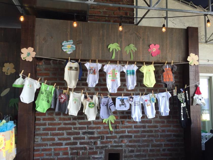 This amazing clothes line was created by my group of friends and completely made my heart melt.